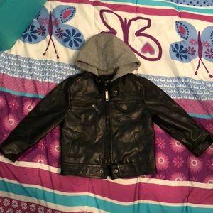 Boys Faux Leather Coat